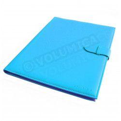 Conférencier portfolio A4 Bleu-turquoise Corfou