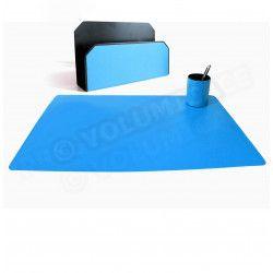 Parure bureau et courrier Bleu-turquoise Corfou