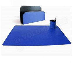 Parure bureau et courrier Bleu-marine Corfou