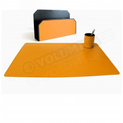 Parure bureau et courrier Orange Corfou