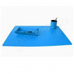 Parure bureau et plumier-videpoche Bleu-turquoise Corfou