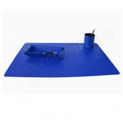 Parure bureau et plumier-videpoche Bleu-marine Corfou