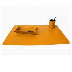 Parure bureau et plumier-videpoche Orange Corfou