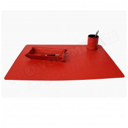 Parure bureau et plumier-videpoche Rouge Corfou