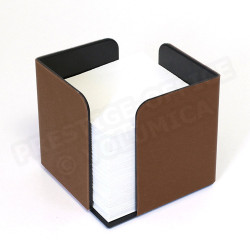 Bloc-notes cube Marron Corfou