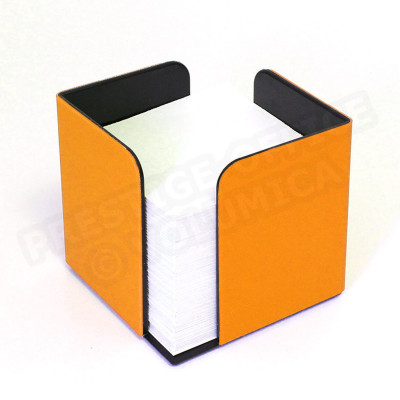 Bloc-notes cube Orange Corfou