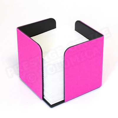 Bloc-notes cube Rose-fuchsia Corfou