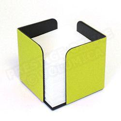 Bloc-notes cube Vert-anis Corfou