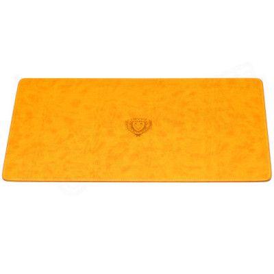 Sous-main style Cuir Nubuck Orange Collection Montaigne