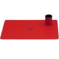 Parure de bureau style Cuir Nubuck Rouge N°2 Collection Montaigne