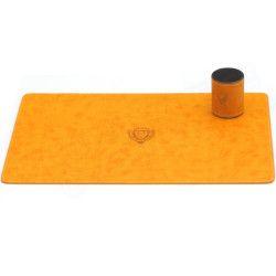 Parure de bureau style Cuir Nubuck Orange N°2 Collection Montaigne