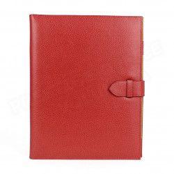 Conférencier portfolio A4 cuir Rouge Beaubourg