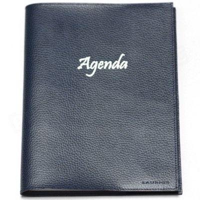 Agenda 21x27 cuir Bleu-marine Beaubourg