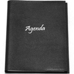 Agenda 17x24 cuir Noir Beaubourg