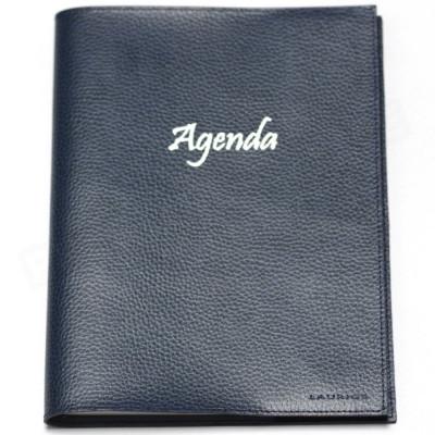 Agenda 17x24 cuir Bleu-marine Beaubourg