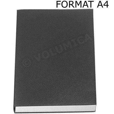 Carnet de notes A4 cuir Noir Beaubourg