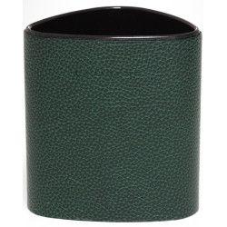 Pot à crayons triangulaire en Cuir Vert Collection Lafayette