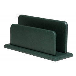 Porte-lettres/courrier en Cuir Vert Collection Lafayette