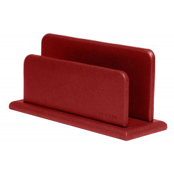 Porte-lettres/courrier en Cuir Rouge Collection Lafayette