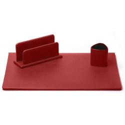 Parure de bureau Cuir Rouge N°10 Collection Lafayette