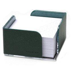 Bloc-notes cube en Cuir Vert Collection Lafayette