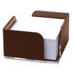 Bloc-notes cube en Cuir Marron Collection Lafayette