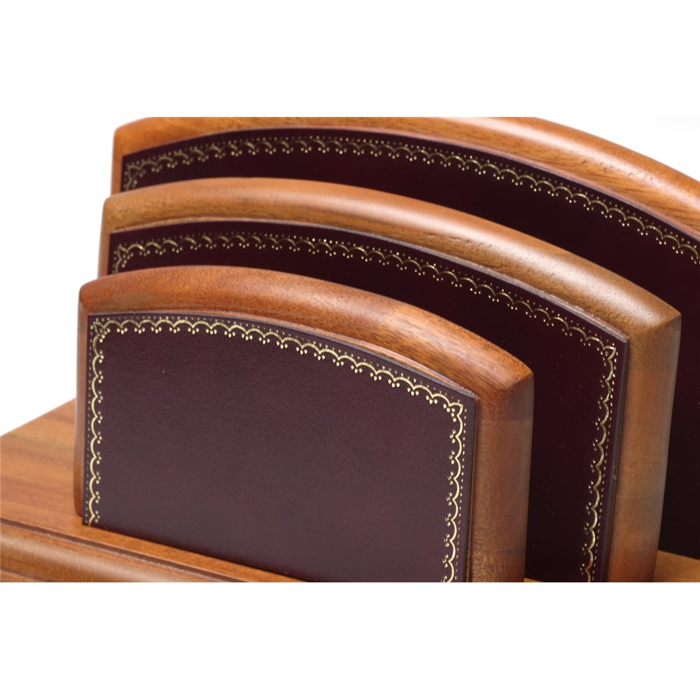 Porte Lettrescourrier Bois Style Cuir Bordeaux Collection Trianon