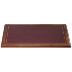 Sous-main Bois style Cuir Bordeaux Collection Trianon