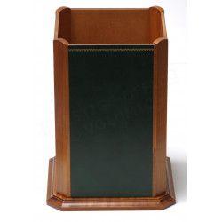 Corbeille en bois style Cuir Vert Collection Trianon