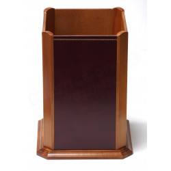 Corbeille en bois style Cuir Bordeaux Collection Trianon
