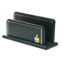 Porte-lettres/courrier en Cuir Vert Collection Napoléon
