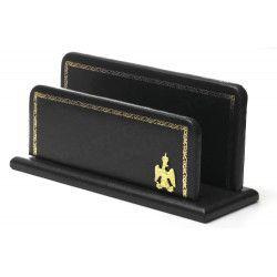 Porte-lettres/courrier en Cuir Noir Collection Napoléon