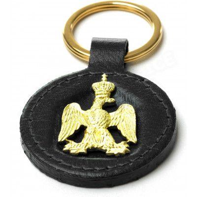 Porte-clés en Cuir Noir Collection Napoléon