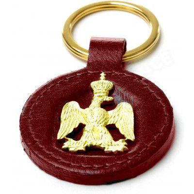 Porte-clés en Cuir Bordeaux Collection Napoléon