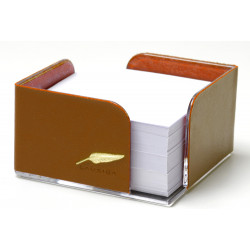 Bloc-notes cube en Cuir Gold Collection Windsor