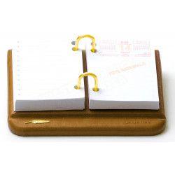 Bloc éphémeride-calendrier Cuir Gold Collection Windsor