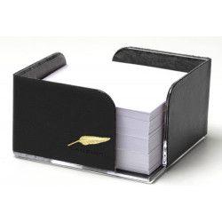 Bloc-notes cube en Cuir Noir Collection Windsor