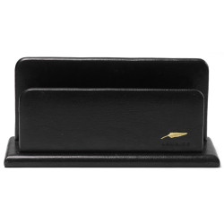 Porte-lettres/courrier en Cuir Noir Collection Windsor