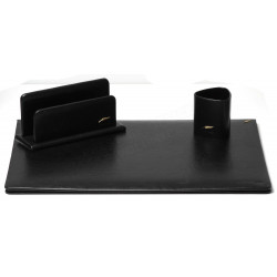 Parure de bureau Cuir Noir N°10 Collection Windsor