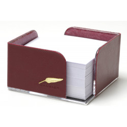 Bloc-notes cube en Cuir Bordeaux Collection Windsor