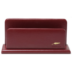 Porte-lettres/courrier en Cuir Bordeaux Collection Windsor
