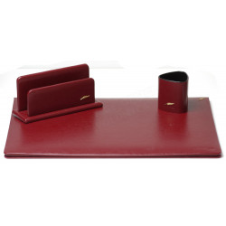 Parure de bureau Cuir Bordeaux N°10 Collection Windsor
