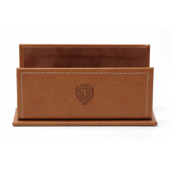 Porte-lettres/courrier style Cuir Nubuck Gold Collection Montaigne