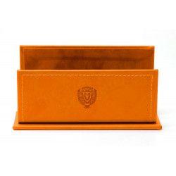 Porte-lettres/courrier style Cuir Nubuck Orange Collection Montaigne