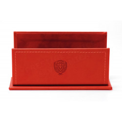 Porte-lettres/courrier style Cuir Nubuck Rouge Collection Montaigne