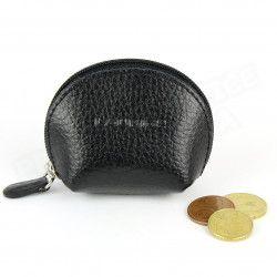 Mini porte-monnaie cuir Noir Beaubourg