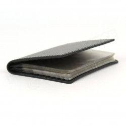Porte 12 cartes cuir Noir Beaubourg