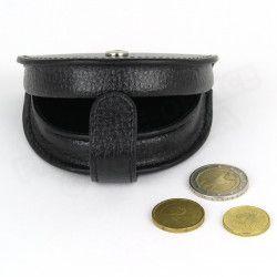Porte-monnaie Cuvette cuir Noir Beaubourg