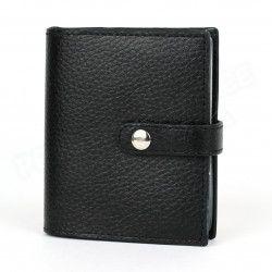 Porte 24 cartes cuir Noir Beaubourg