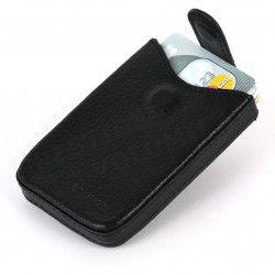 Porte cartes de visite cuir Noir Beaubourg